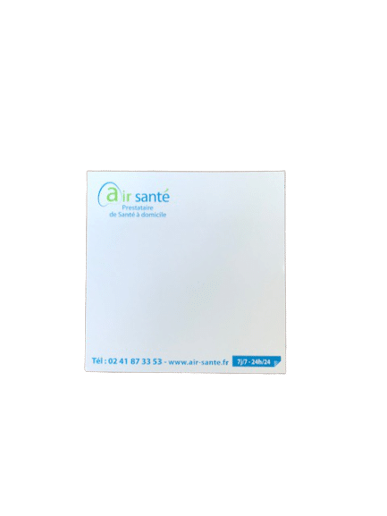 blocs de notes repositionnables sans couverture format 10x10cm