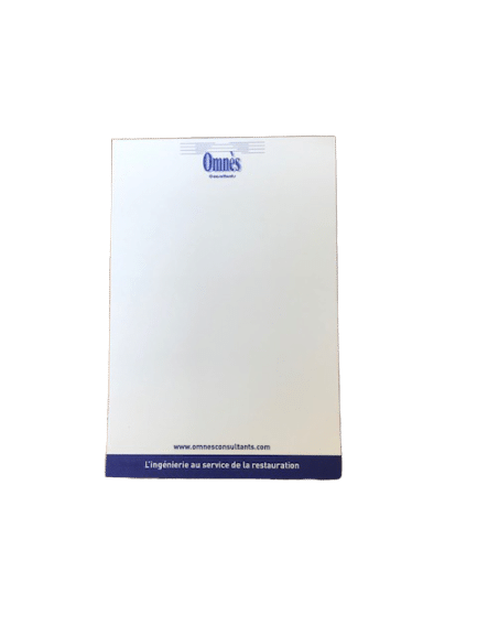 blocs de notes repositionnables sans couverture de format 10x15 cm