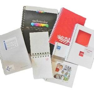 cahiers, blocs et carnets à spirales