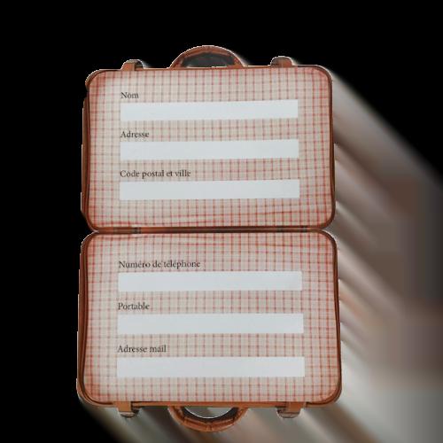étiquette forme valise
