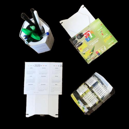 pot à crayons calendrier