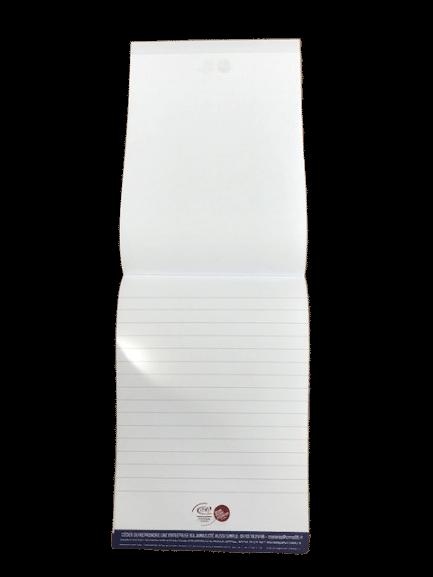 blocs notes encollé par le haut impression quadri feuille à feuille