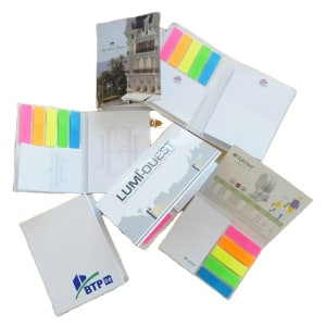 Sets de blocs de notes repositionnables avec couverture