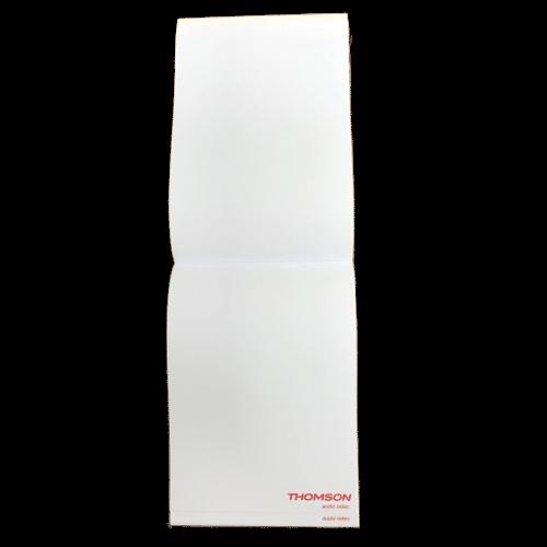 blocs note avec couverture; impression 1 couleur feuille à feuille
