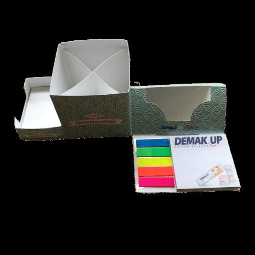 personnalisation feuille à feuille bloc repositionnable set de bureau pliable